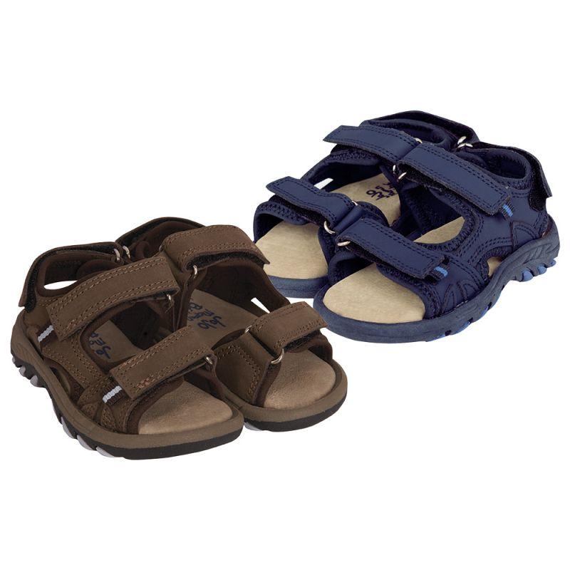 Sandalia de Piel para Niño y Bebé - Color Azul Marino