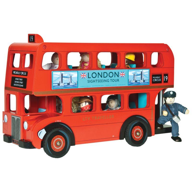 Autobús de Londres en Madera con Conductor