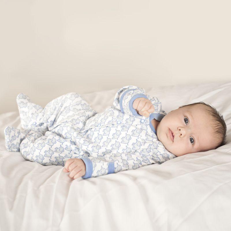 Pijama Bebé Elefantes Azules
