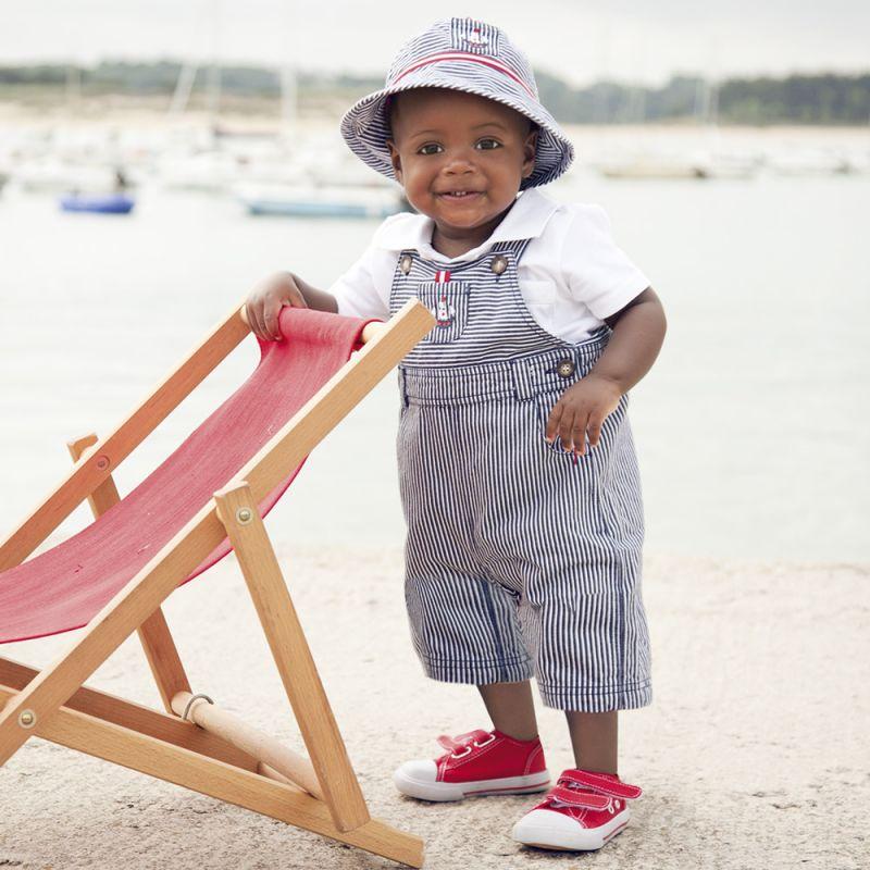peto para bebé estilo náutico para el verano