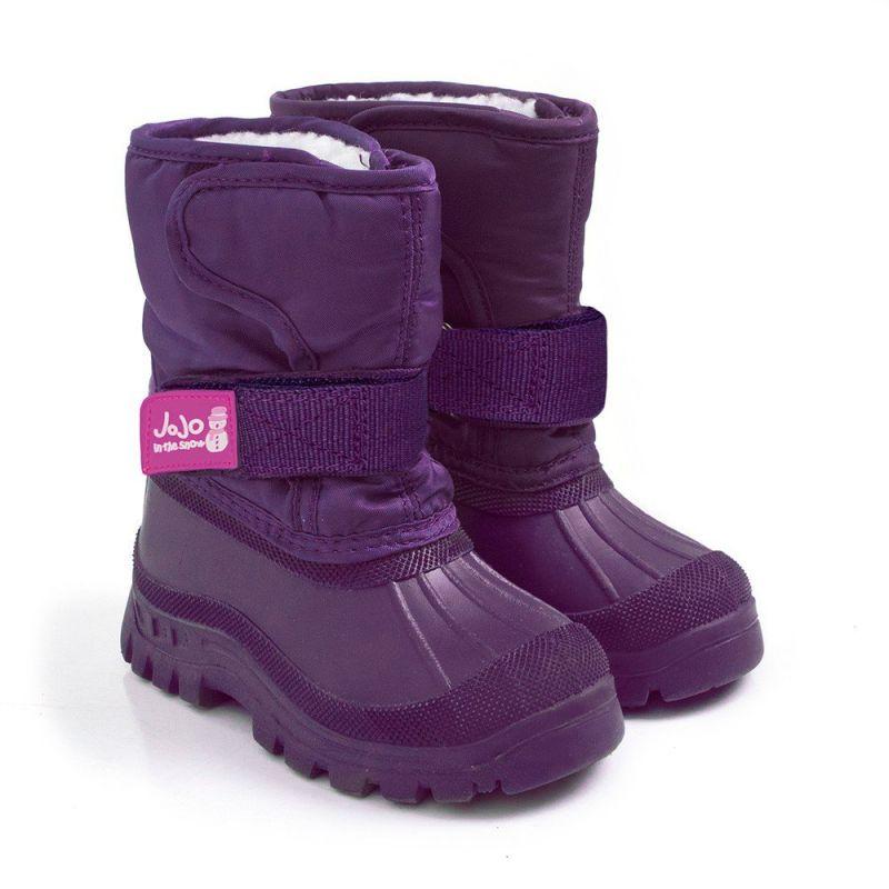 Botas de Nieve Alpinas púrpuras para NIños
