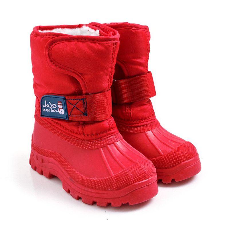 Botas de Nieve Alpinas rojas para NIños