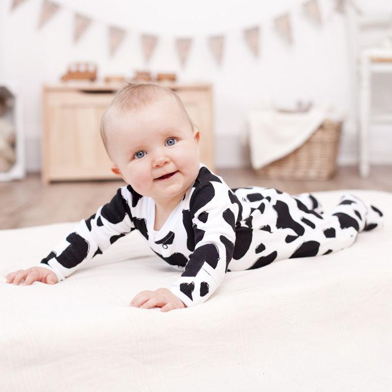 Pijama Bebé Estampado Vaquita