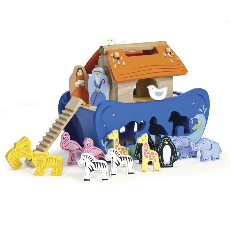 Arca de Noé en Madera con Animalitos
