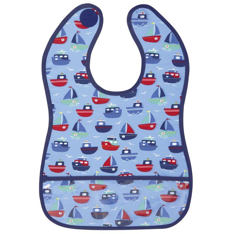 Babero de Bebé Impermeable Estampado Barcos