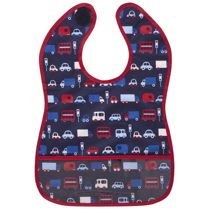 Babero de Bebé Impermeable Estampado Transportes