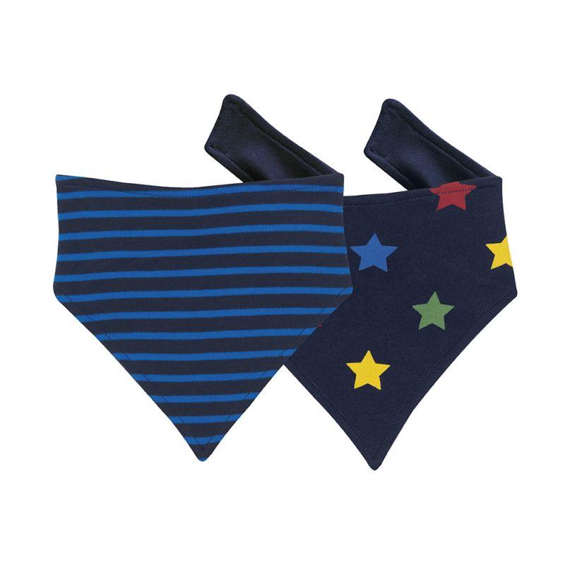 Baberos Quita Babas para Bebés Azules con estrellas