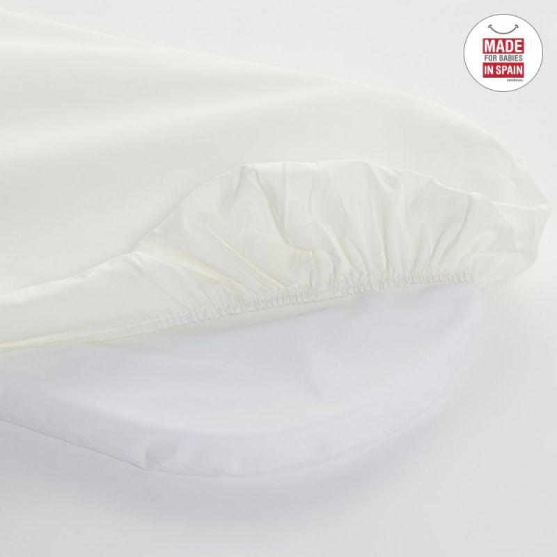 Bajera en color Blanco para Capazo 35 * 78 Cambrass