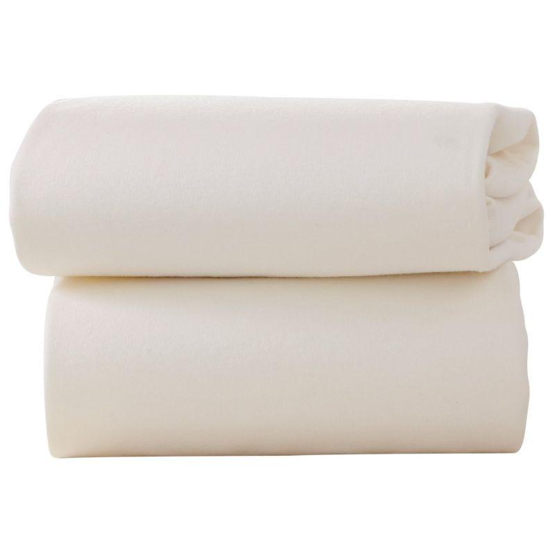 Sabanas bajeras para capazos en color crema
