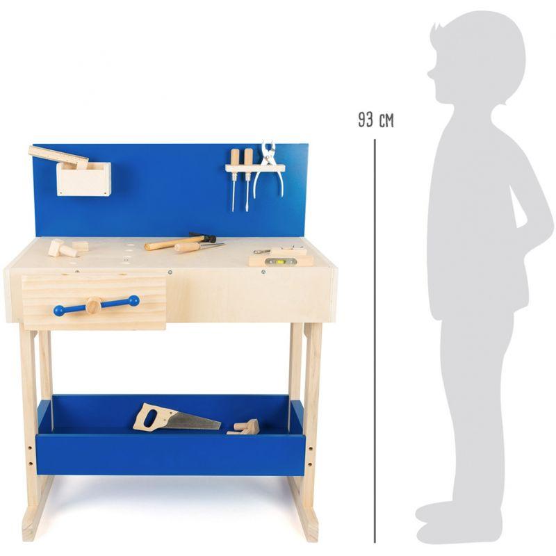 dimensiones Banco de trabajo con accesorios