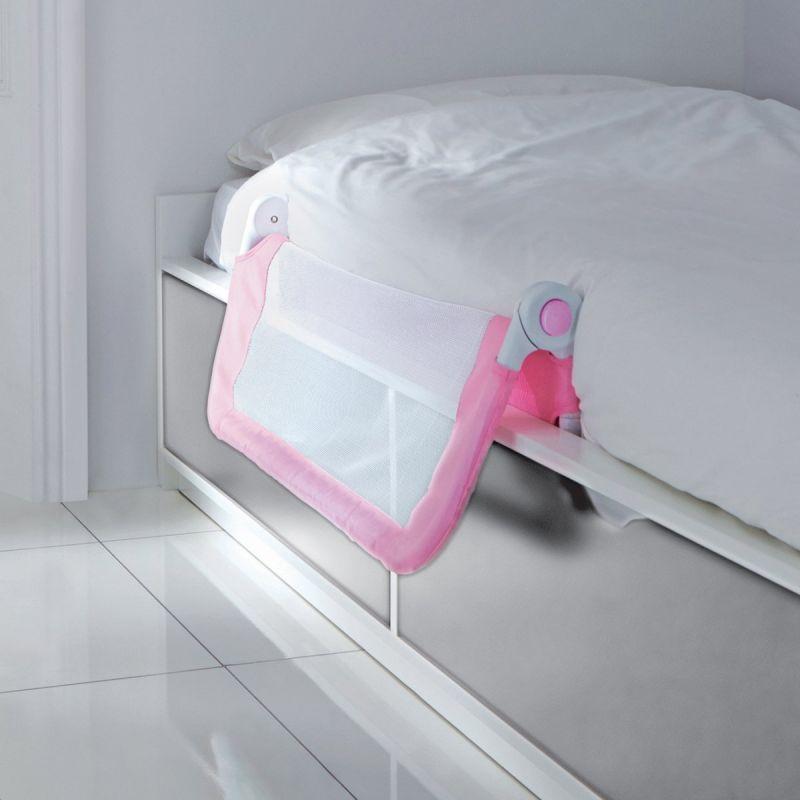 Barrera de cama rosa Ajuste fácil Lindam