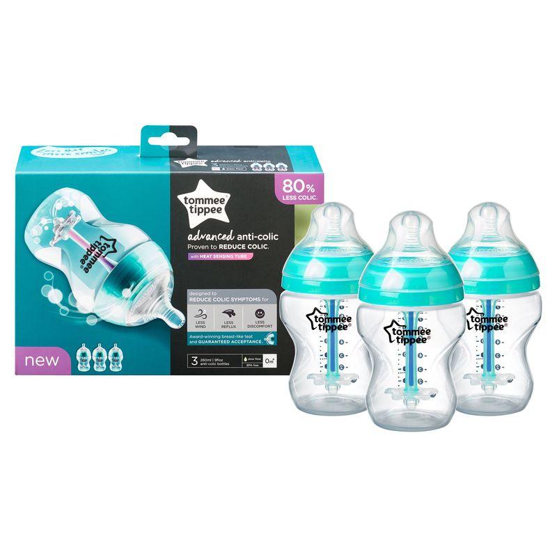 Biberones anticolicos Tommee Tippee 260 ml 3 Unidades - Color Azul claro