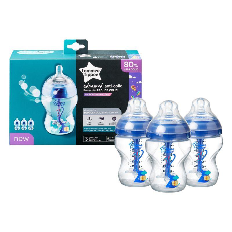 Biberones anticolicos Tommee Tippee 260 ml 3 Unidades - Color Azul