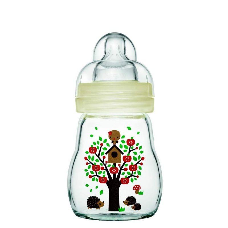 Biberón de cristal 170 ml - Mam - color Blanco