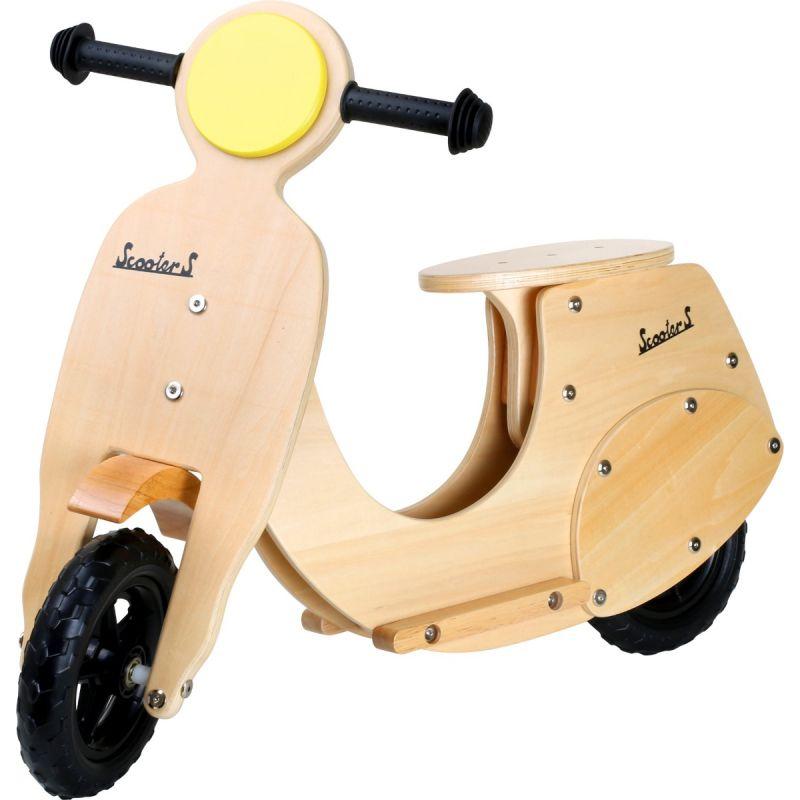 Bicicleta de madera tipo scooter