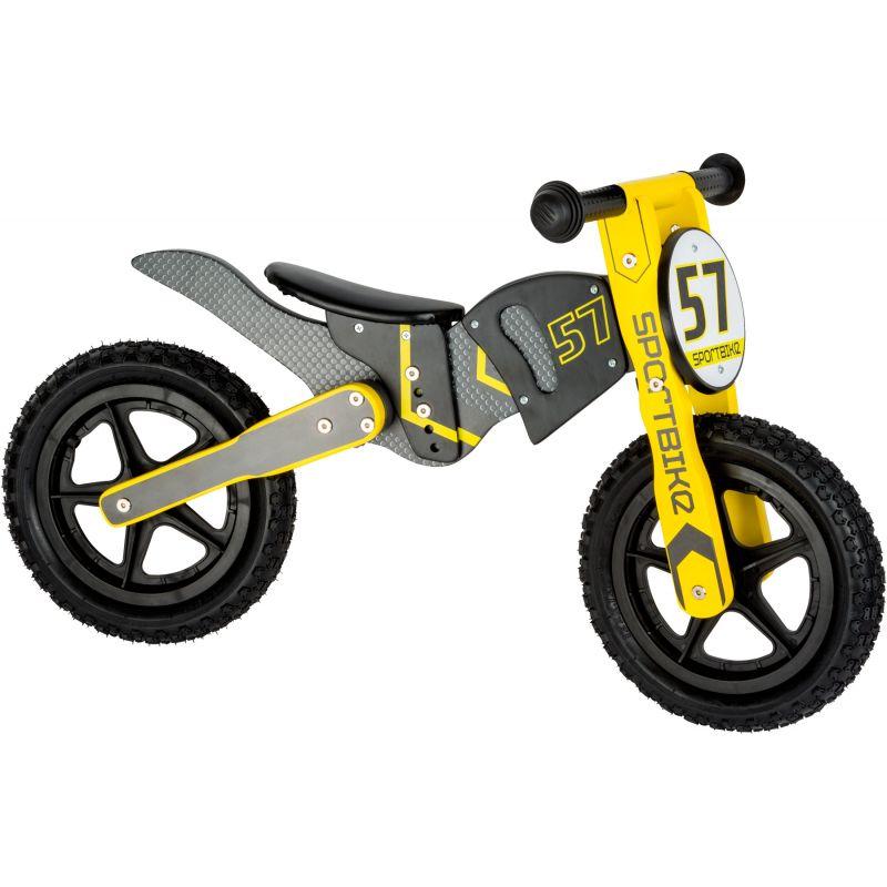bicicleta de madera motocross