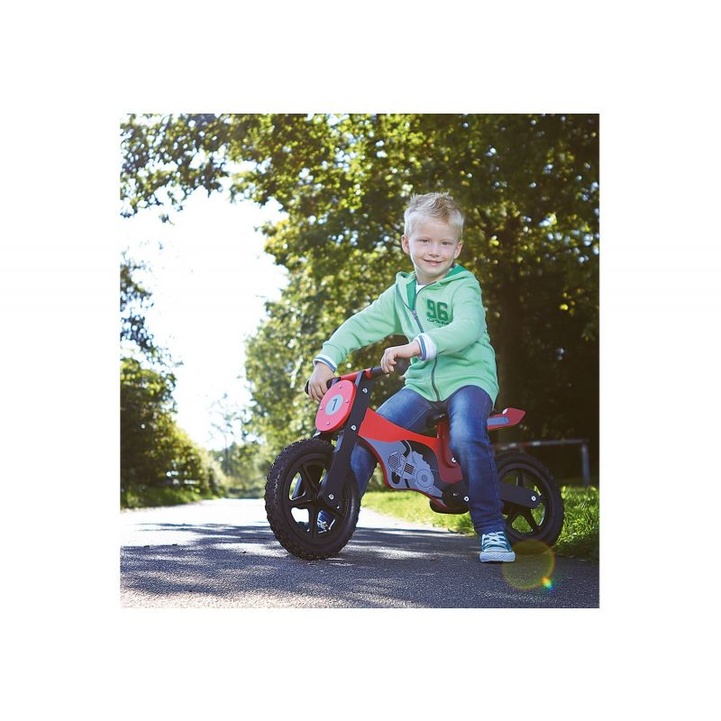 Bicicleta de Madera sin Pedales Moto - Pinolino