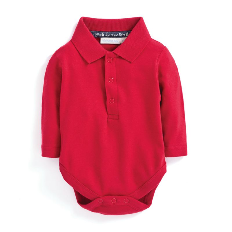 Body Bebé Cuello Polo rojo