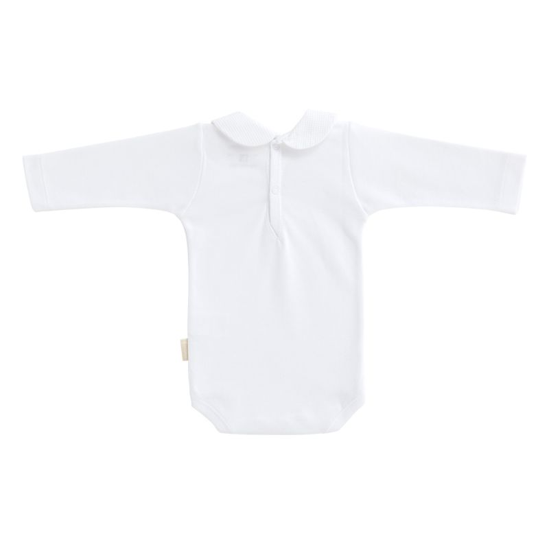 Body Blanco Manga Larga Cuello Peter Pan - Cambrass