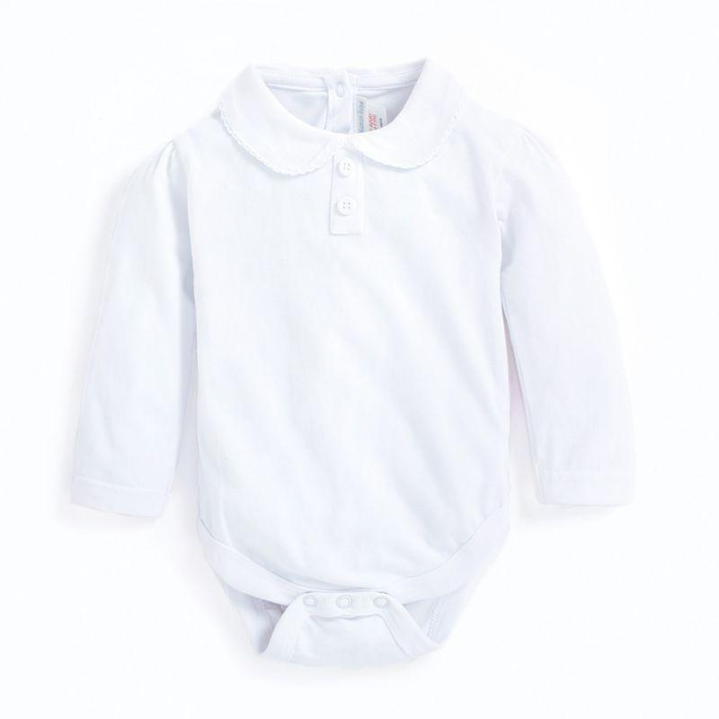 Body Bebé Cuello Polo blanco