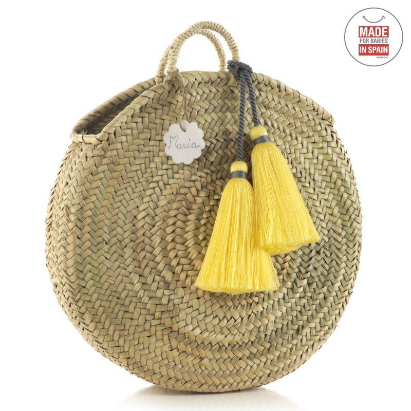 Bolso de Palma Tassel amarillo Cambrass