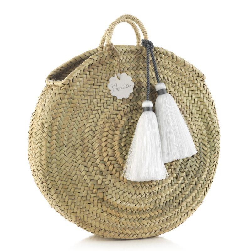 Bolso de Palma Tassel blanco Cambrass