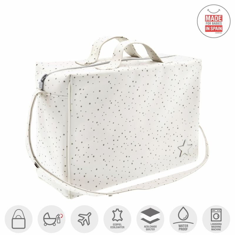 Bolso Maternal Tabela Astra Beige - Cambrass