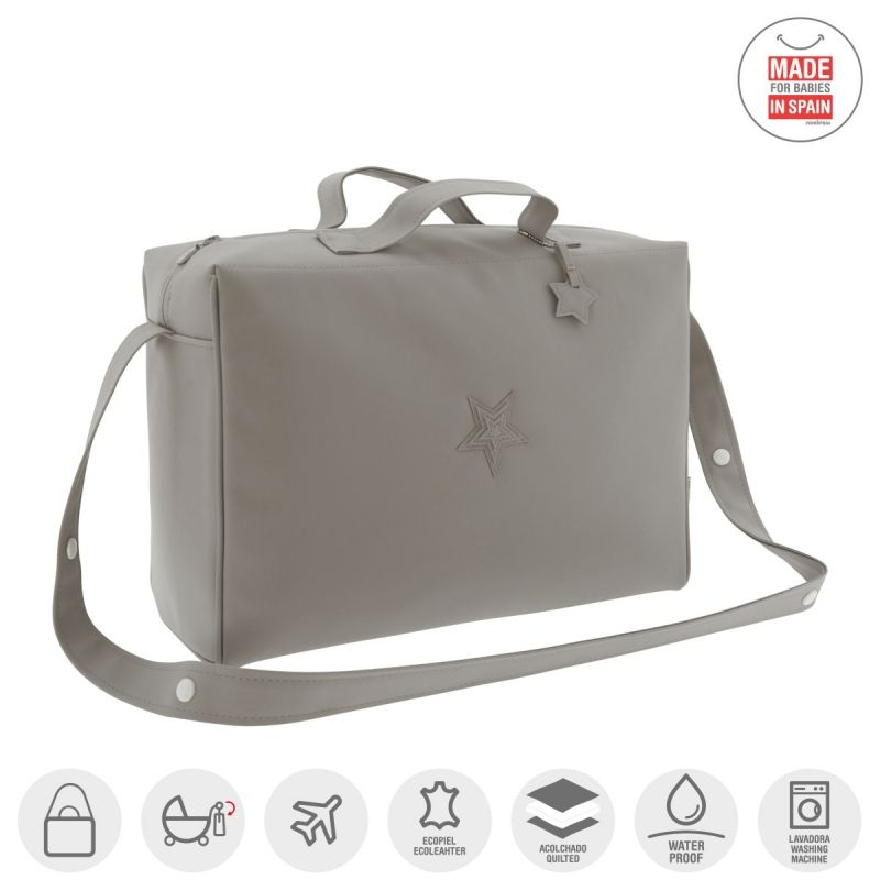 Bolso Maternal Tabela Mate  Cambrass color gris