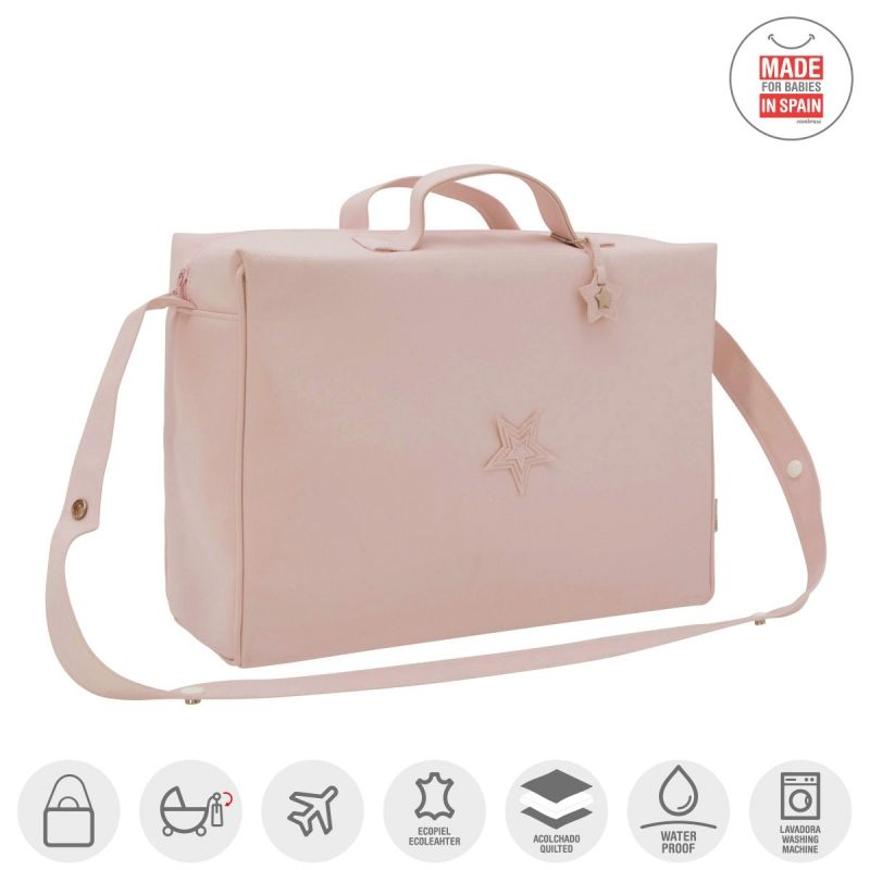 Bolso Maternal Tabela Mate  Cambrass color rosa