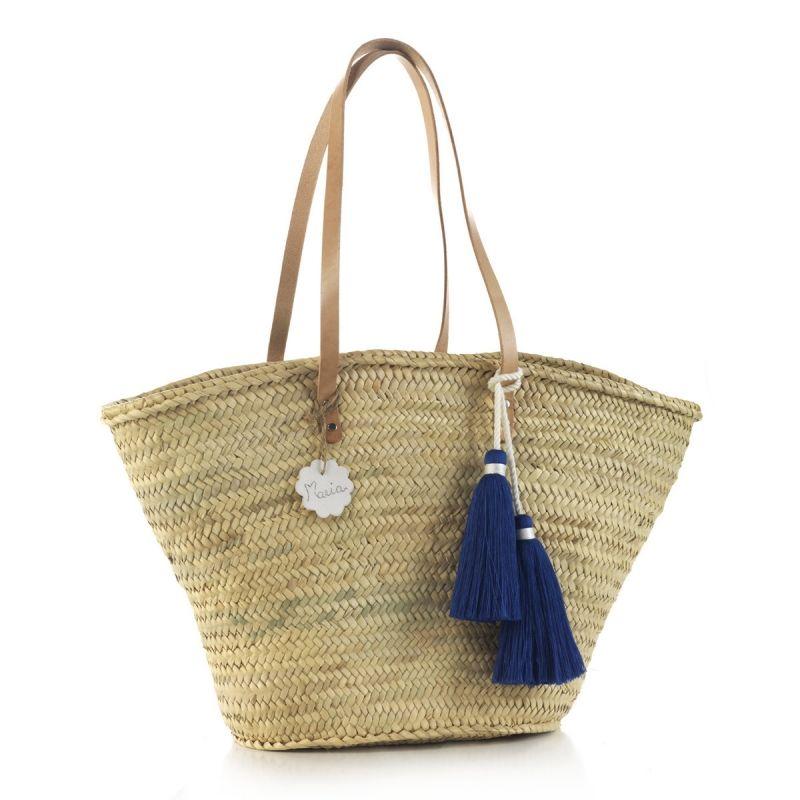 Bolso Palma de Playa Tassel azul Cambrass