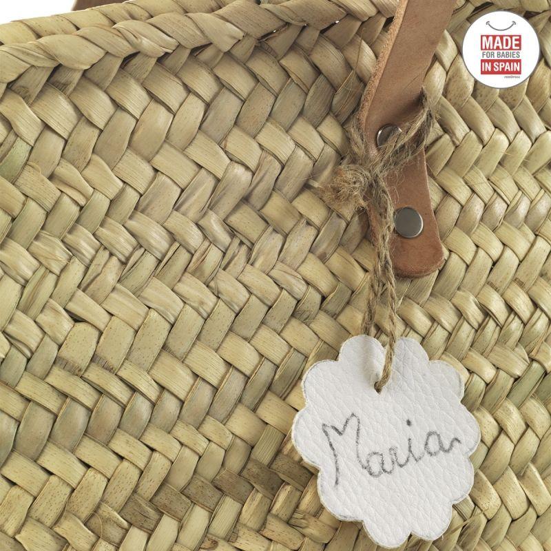 Bolso Palma de Playa Tassel blanco Cambrass