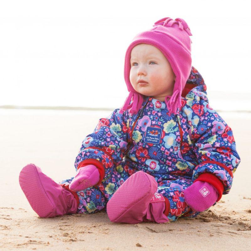 Botines Polares e Impermeables fucsia para Bebé