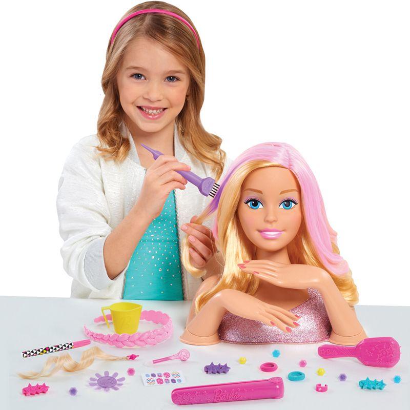 Busto Peinable Barbie color y Estilo Deluxe
