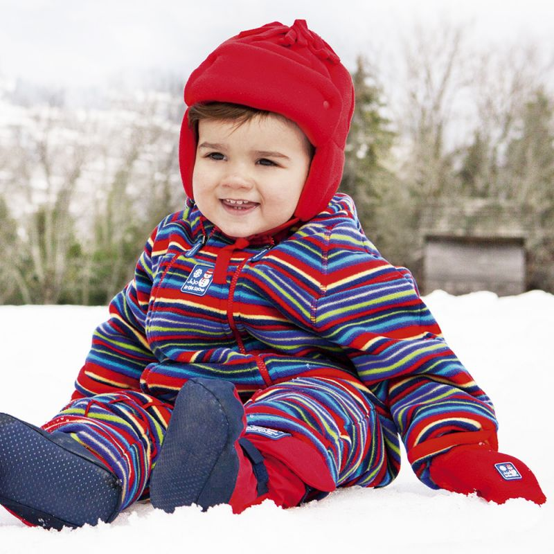 Buzo Polar Bebé y Niño estampado arco iris