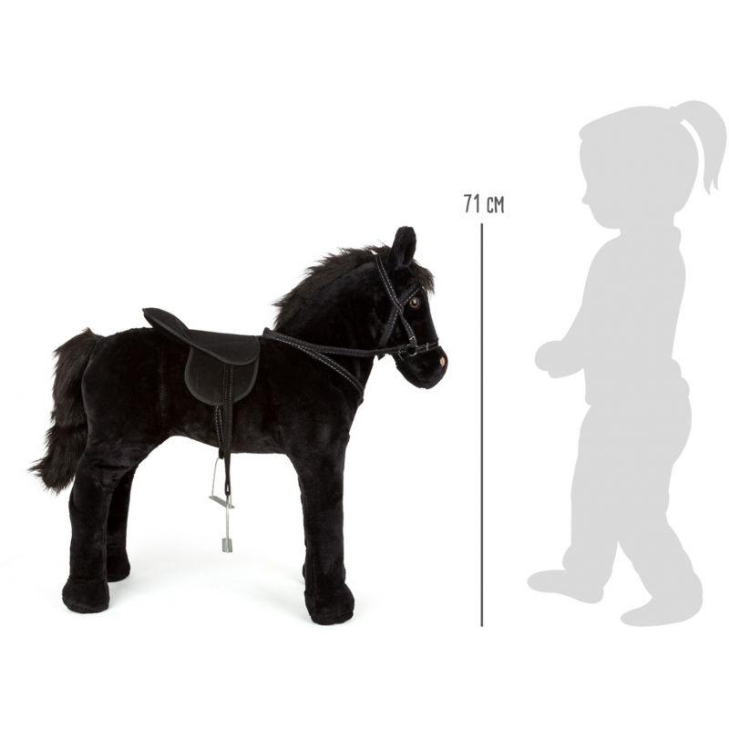 dimensiones Caballo negro de juguete con Sonido