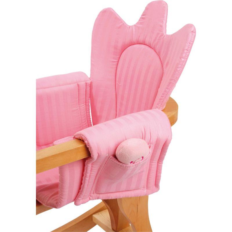 Caballo de madera Balancín rosa