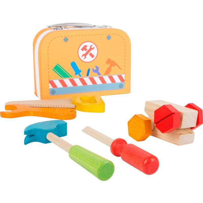 Caja de herramientas Juguete de madera 9 piezas