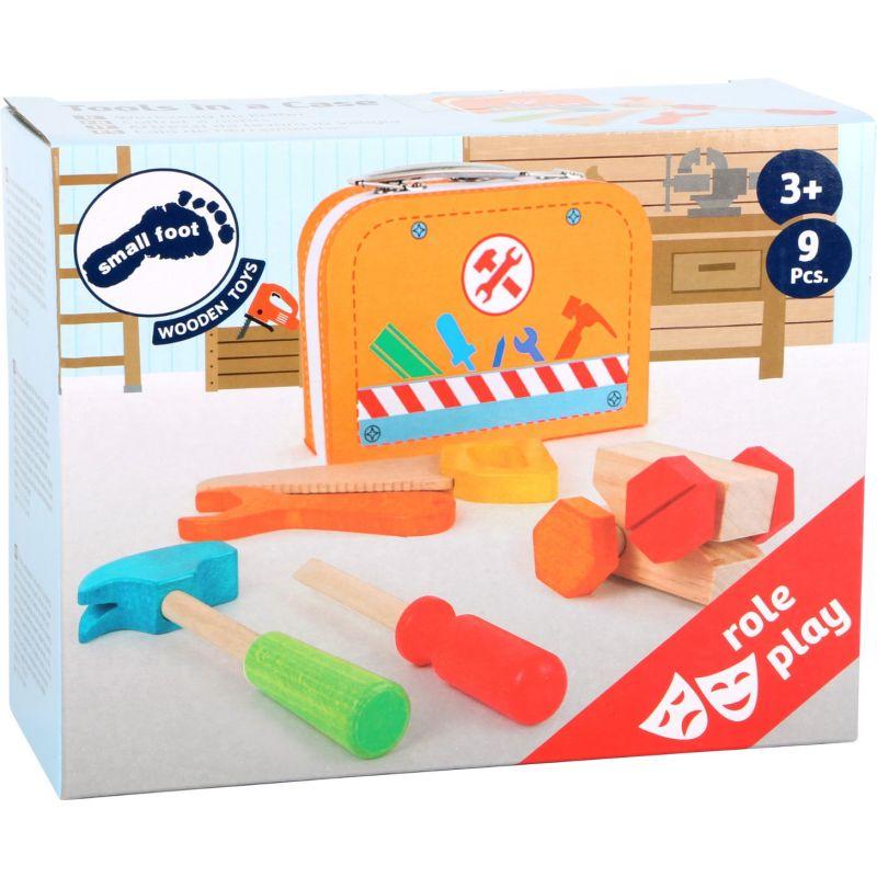 Caja de herramientas - Juguete de madera 9 piezas small foot company