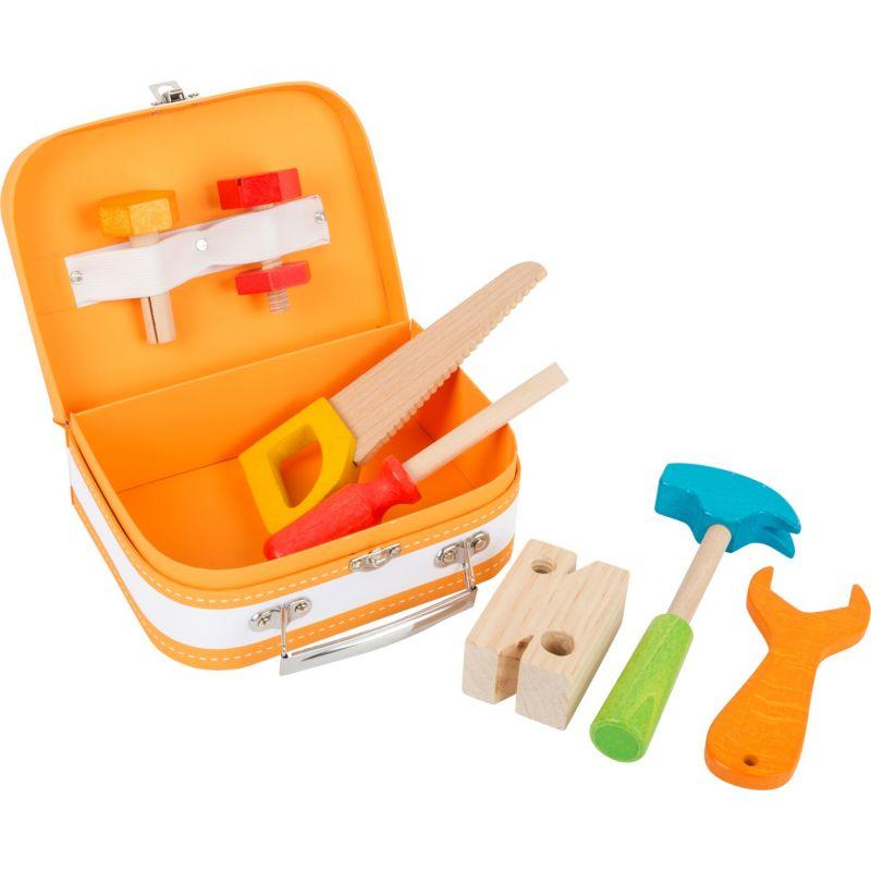 Caja herramientas - Juguete de madera 9 piezas