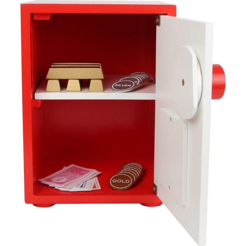 Caja fuerte , incluye dinero de juguete - Juguete de Madera