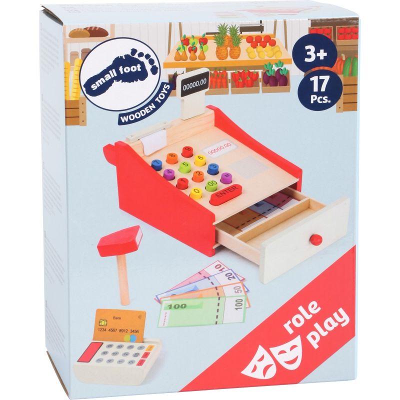 Caja registradora de madera con Rollo de Papel small foot company 11082