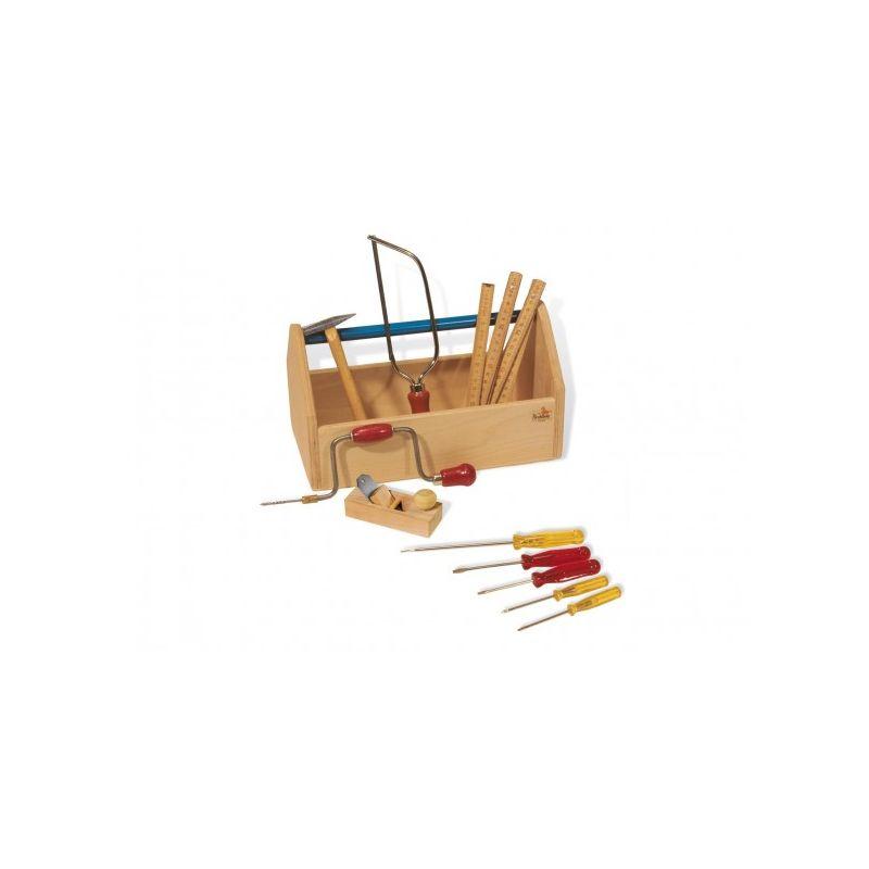 Caja de Herramientas de Madera con Herramientas - Pinolino