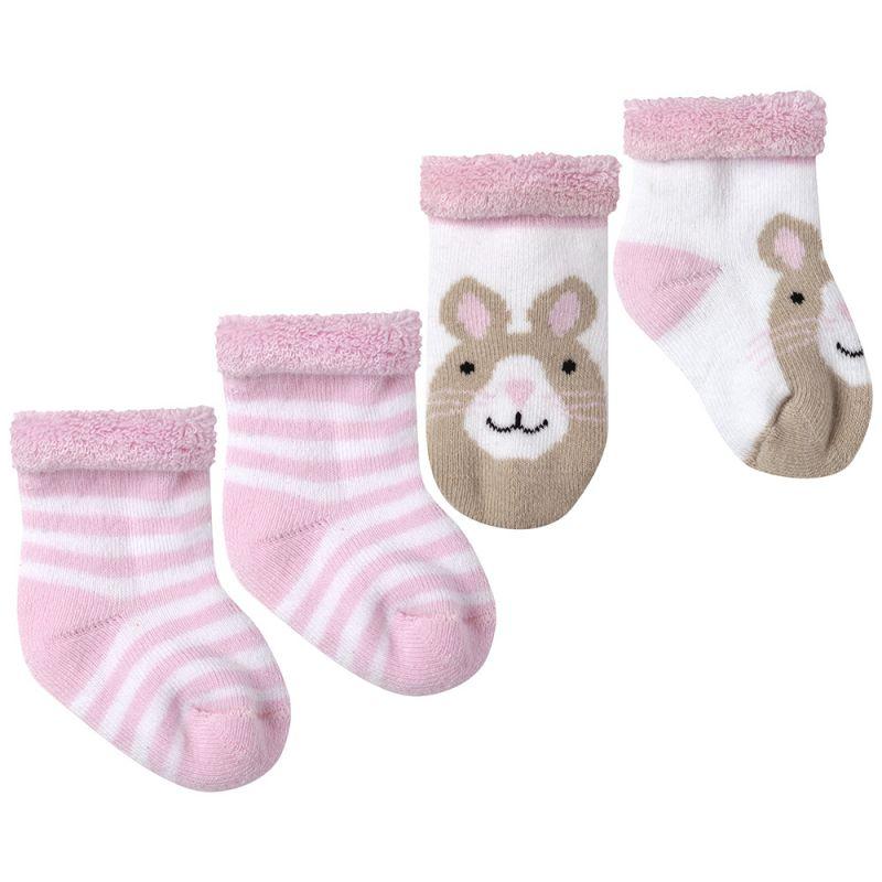 Calcetines para Bebés Estampado Conejito. Pack 2 pares.