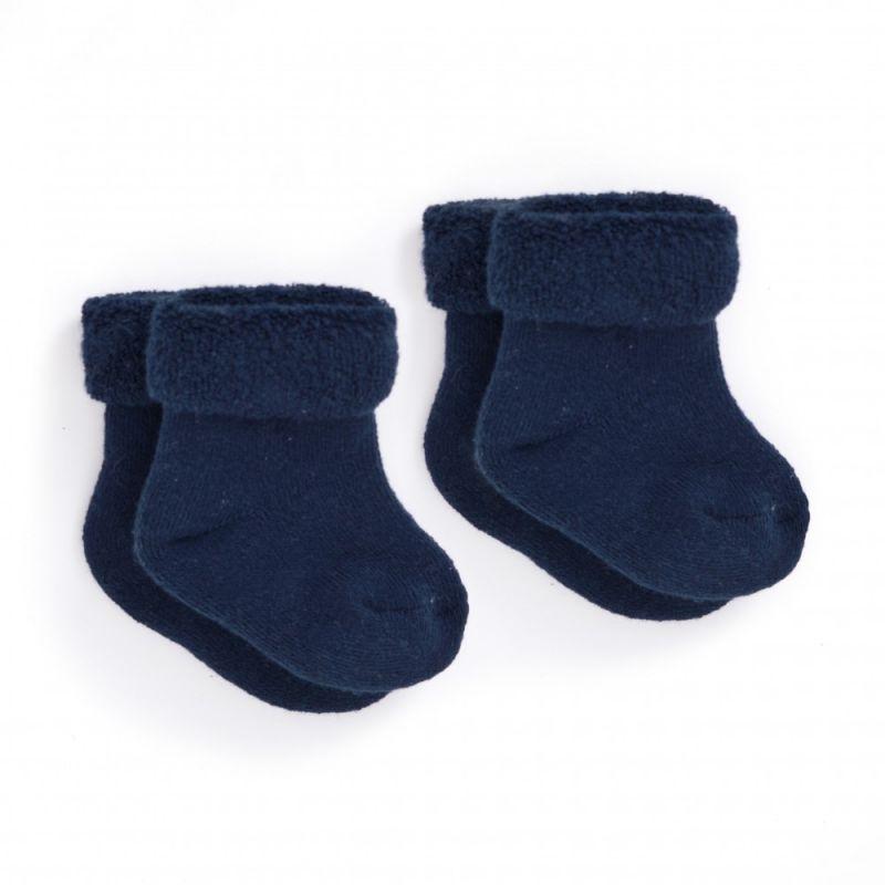 Calcetines azules oscuro para recién nacido