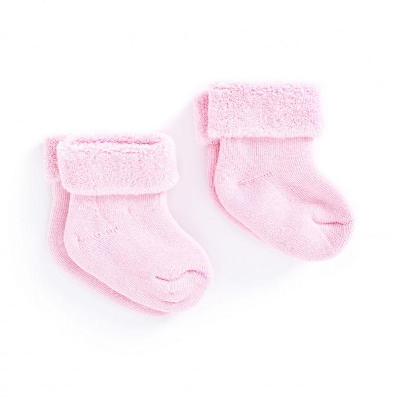 Calcetines rosas para recién nacido