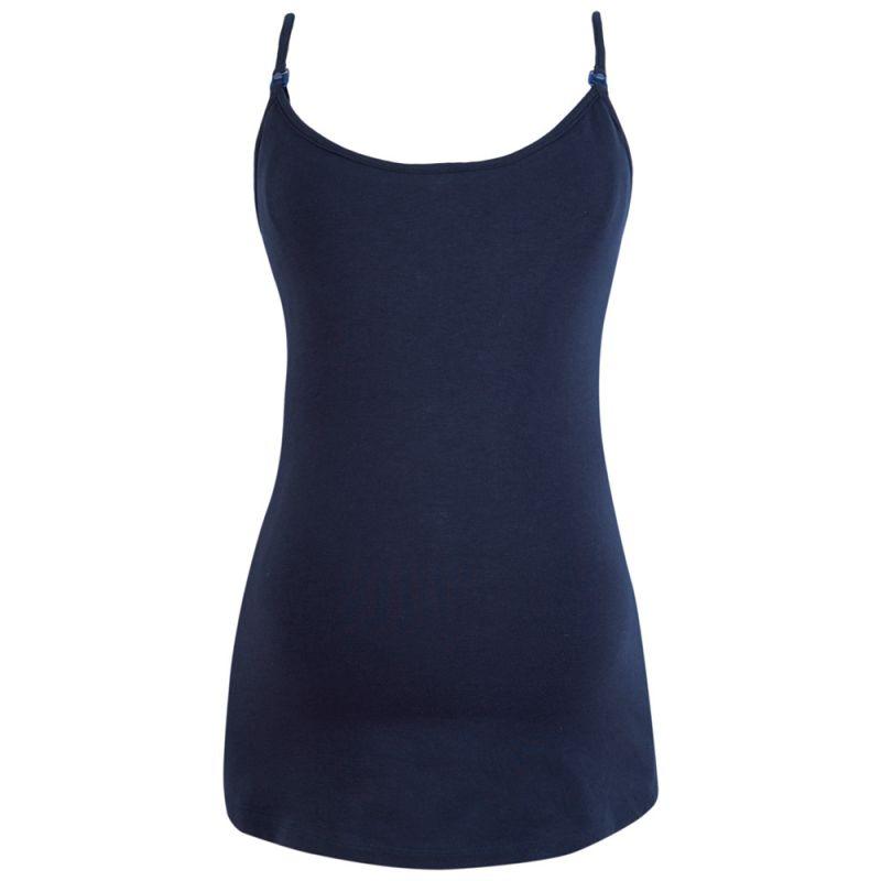 Camiseta de Lactancia de Tiras azul