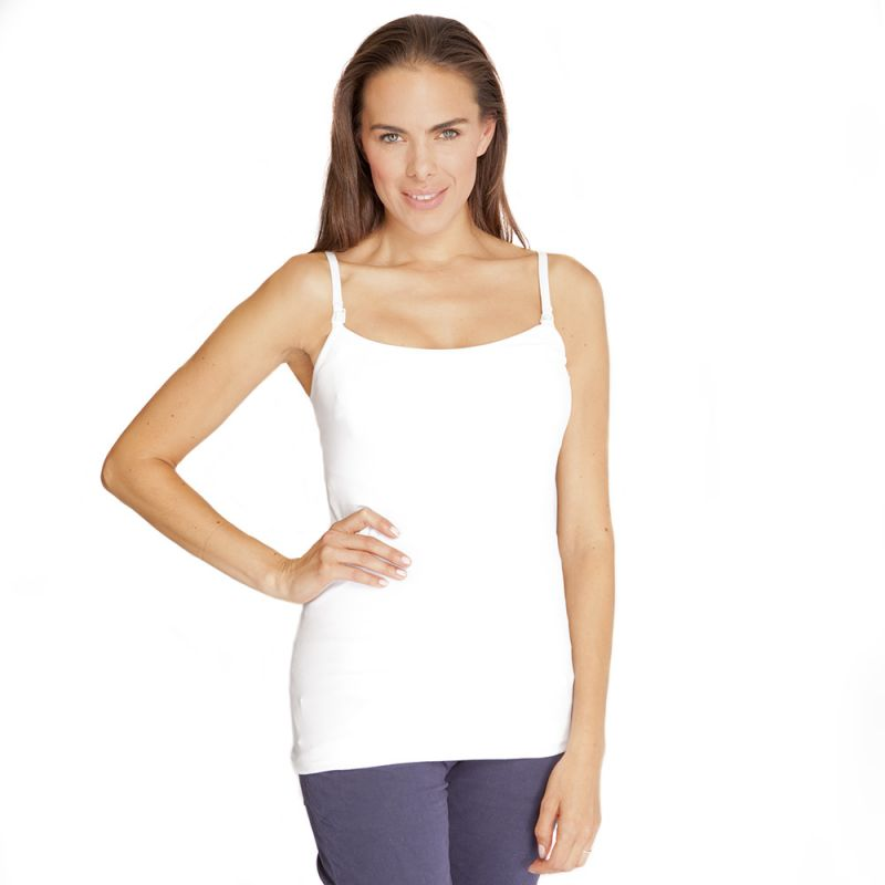Camiseta de Lactancia de Tiras blanca