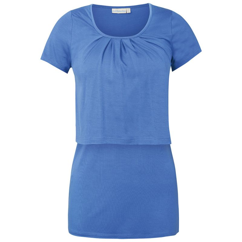 Camiseta Lactancia de manga corta azul