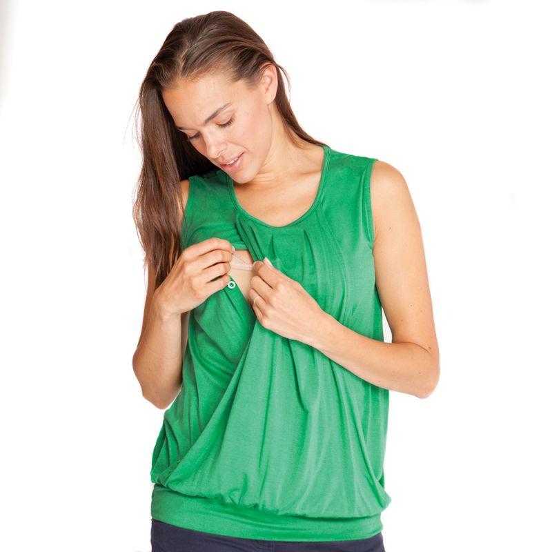 Camiseta Premamá y Lactancia en color verde