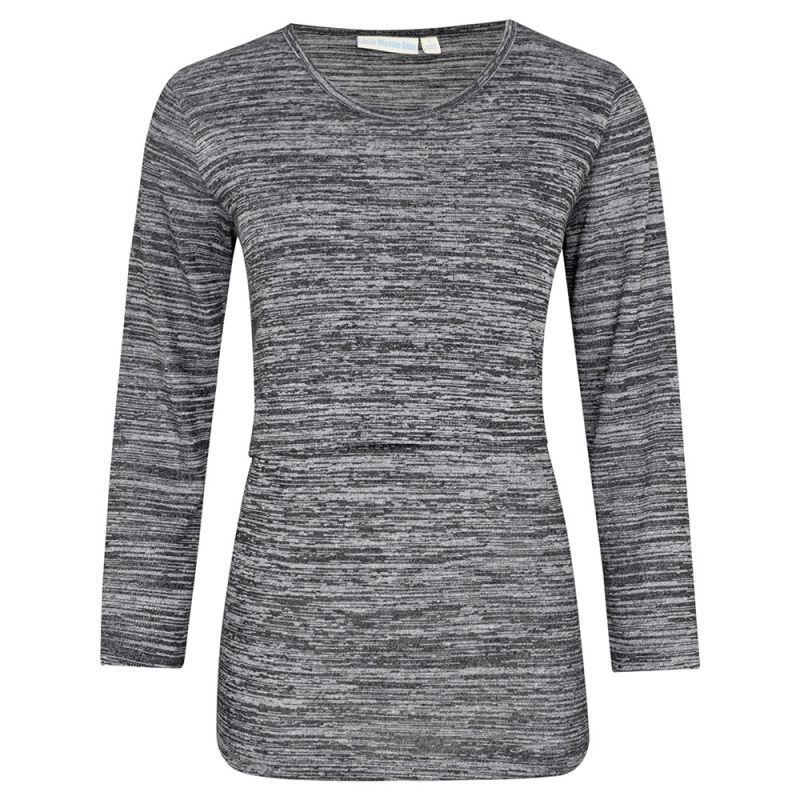 Camiseta de Lactancia Marga en color gris